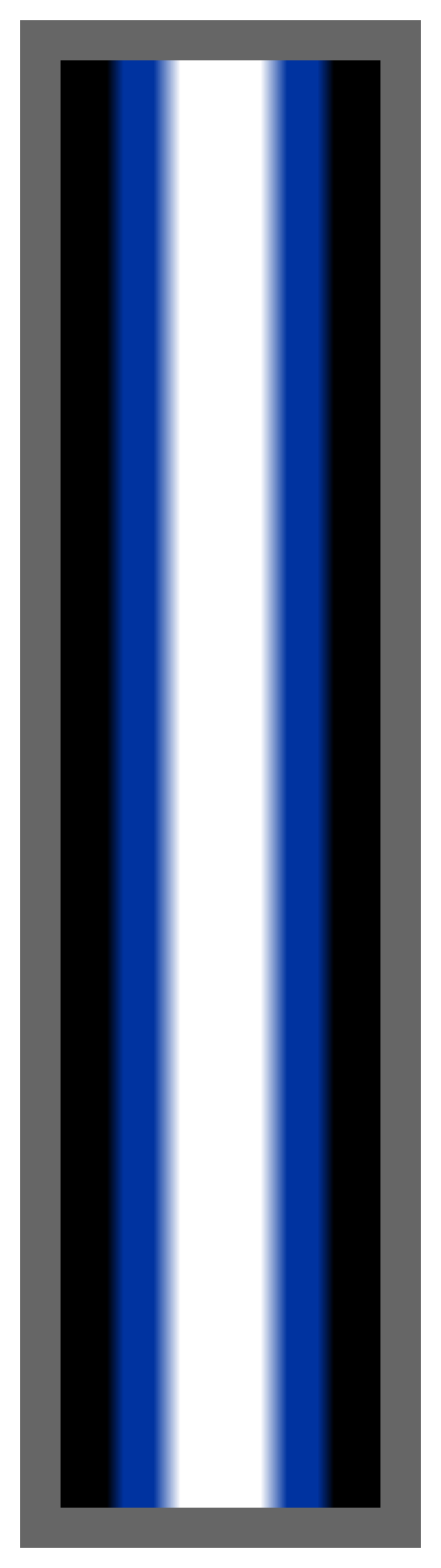 Black-Royal Blue-White Ombre Stripe