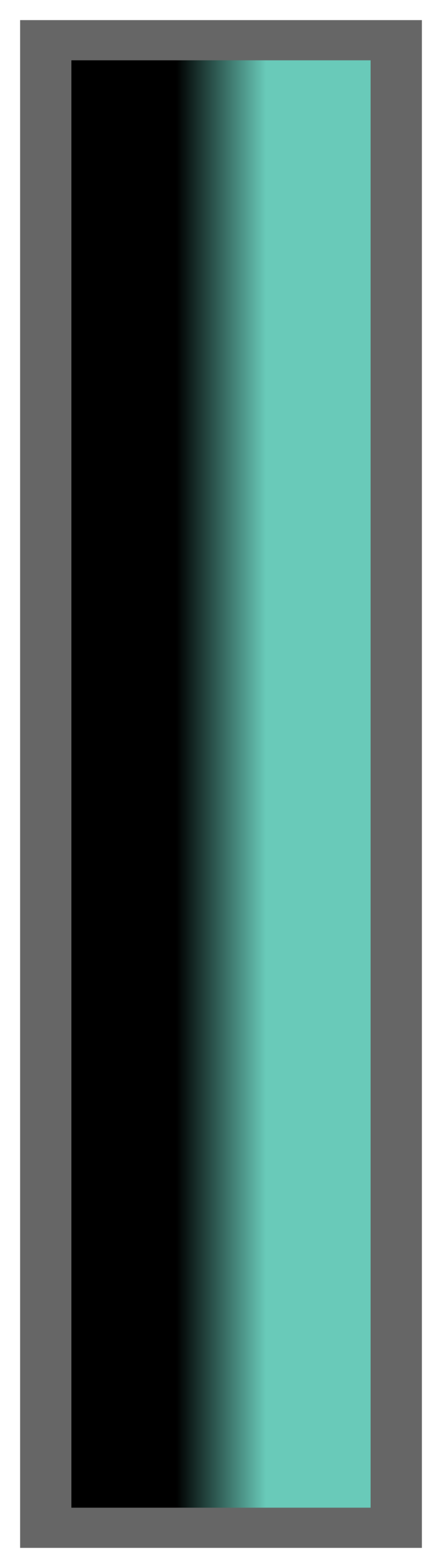 Black-Teal Ombre Stripe