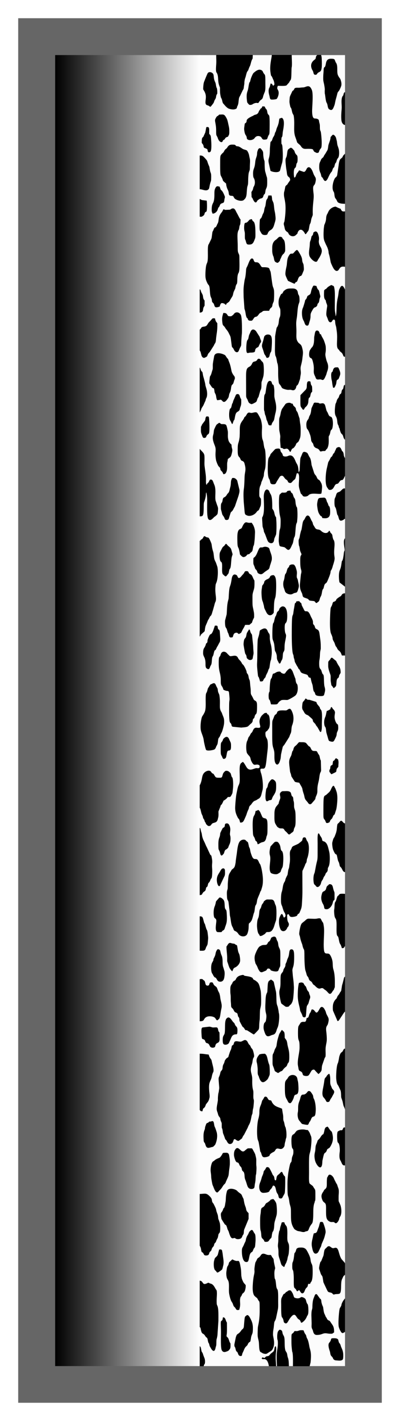 Black Ombre-Cow Print