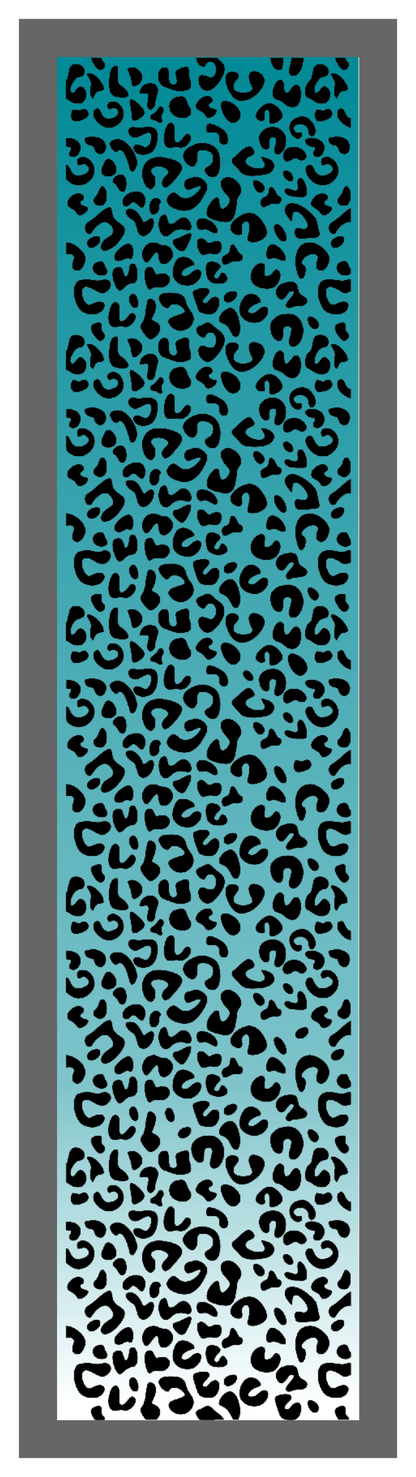 Cheetah Print-Teal Ombre