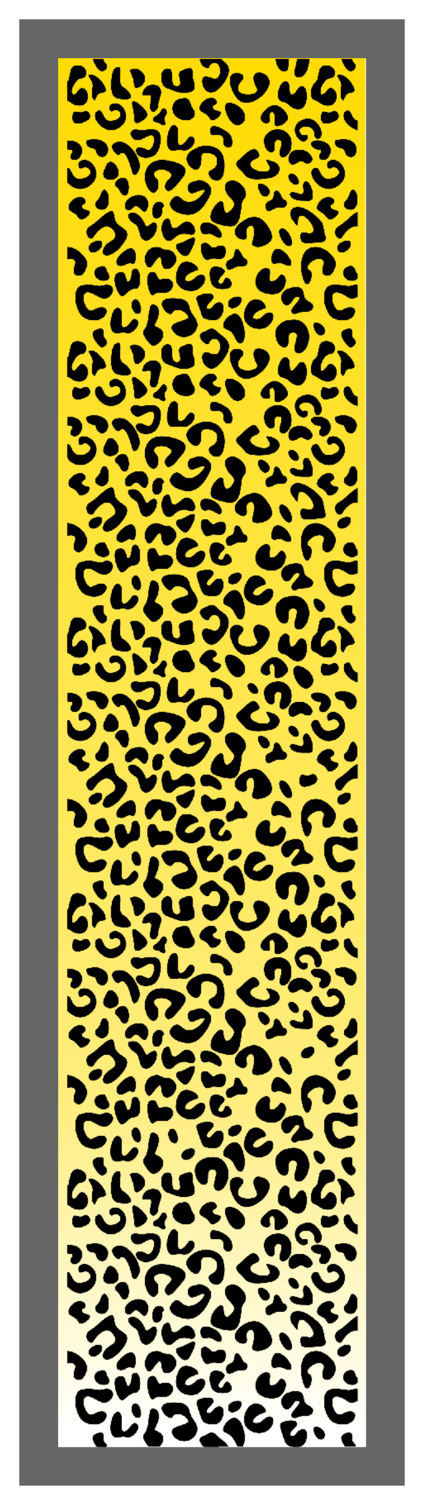 Cheetah Print-Yellow Ombre