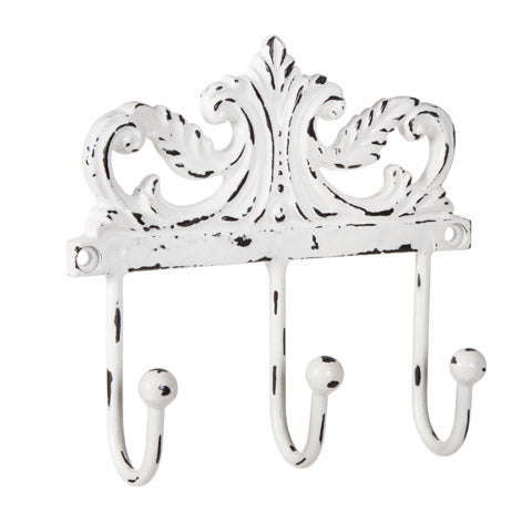 Decorative 3 Hook Key Rail