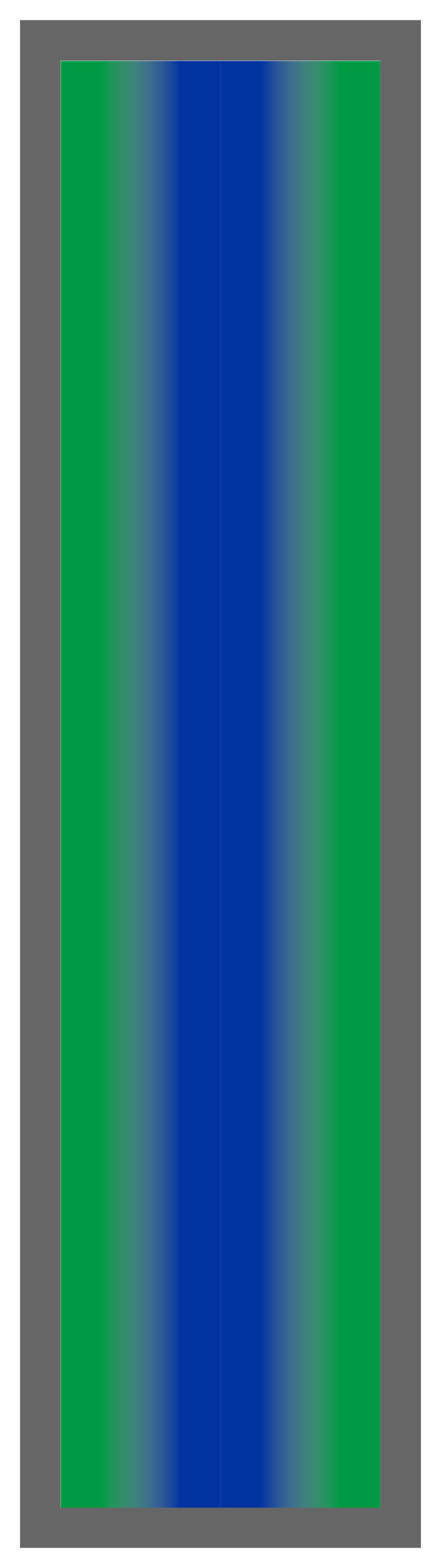 Emerald Green-Royal Blue-Emerald Green Ombre Stripe
