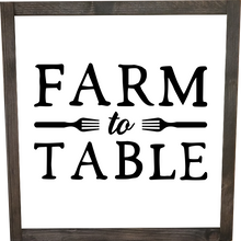 Load image into Gallery viewer, Farm to table