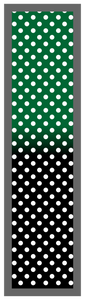 Forest Green-Black Ombre Polka Dots