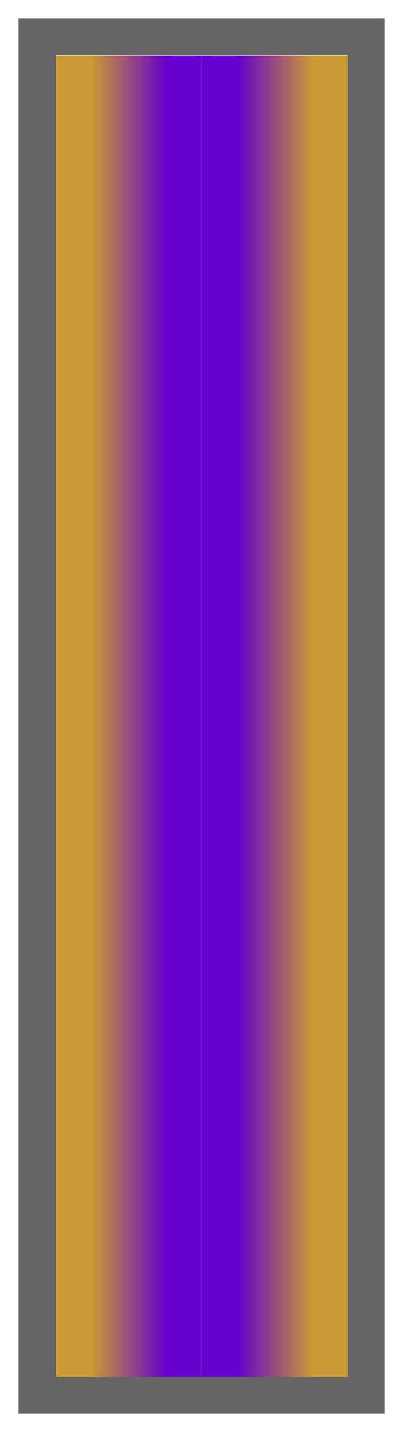 Gold-Purple-Gold Ombre Stripe