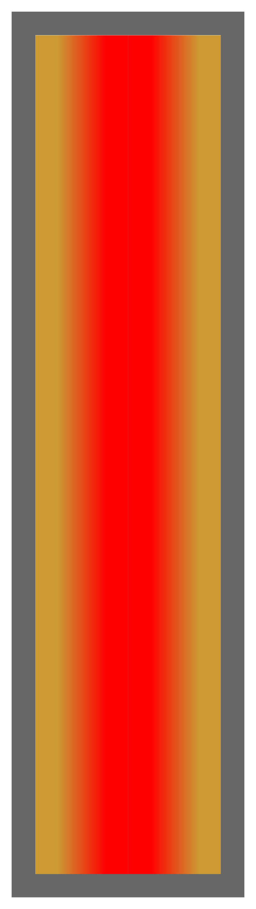 Gold-Red-Gold Ombre Stripe