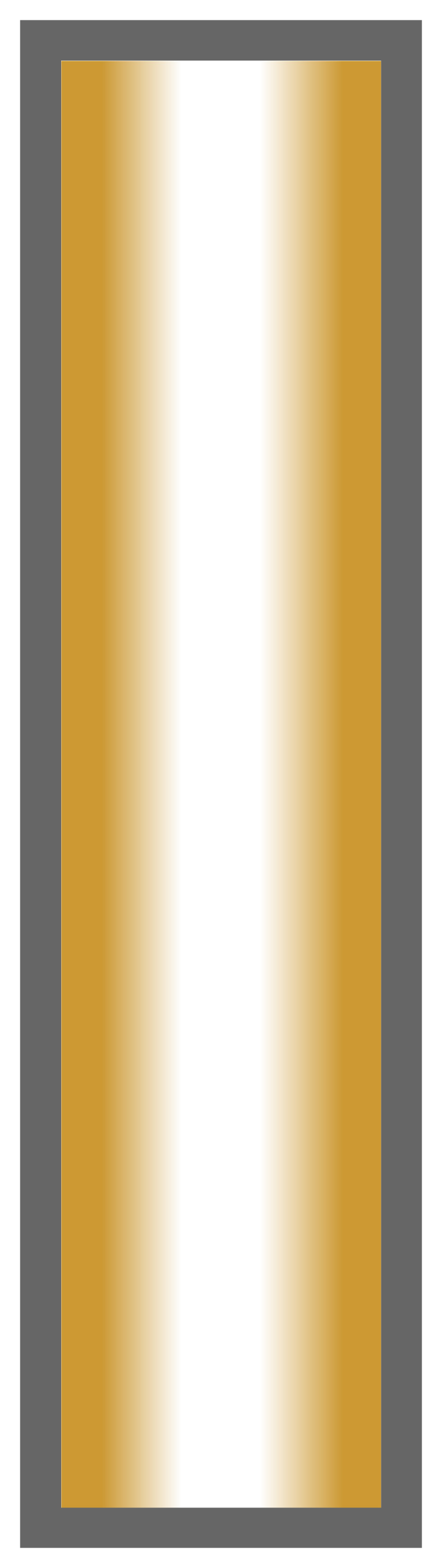 Gold-White-Gold Ombre Stripe