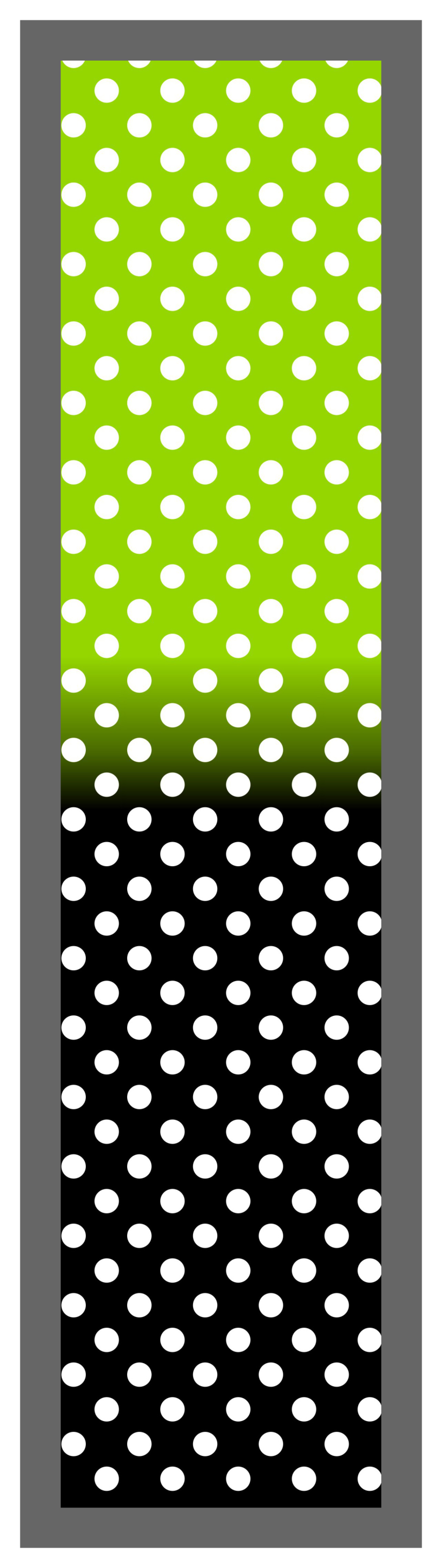 Lime Green-Black Ombre Polka Dots