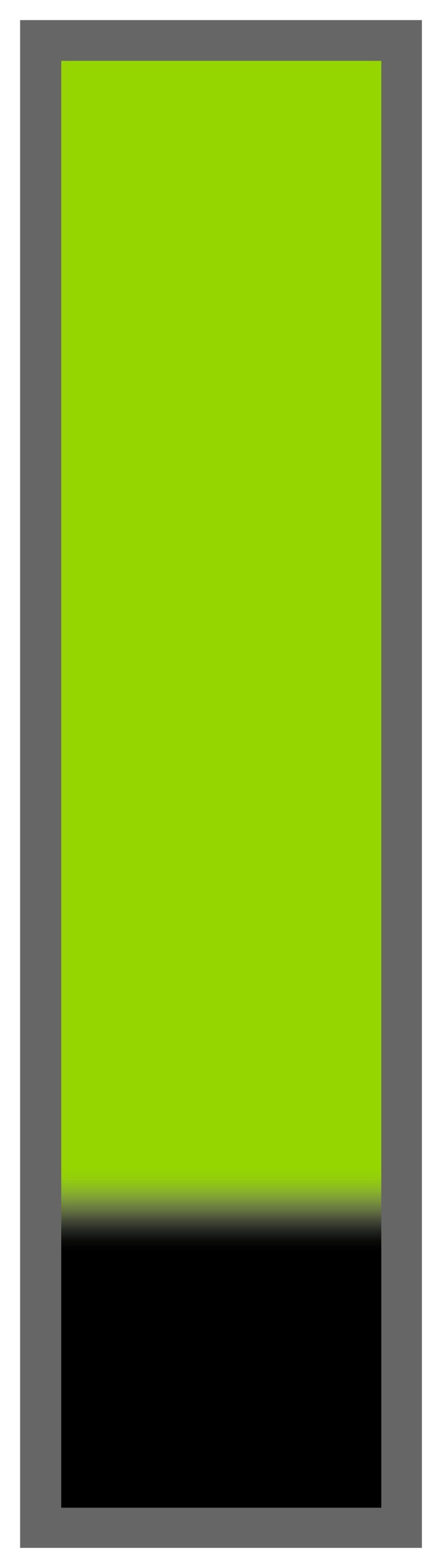 Lime Green Ombre-Black Tail