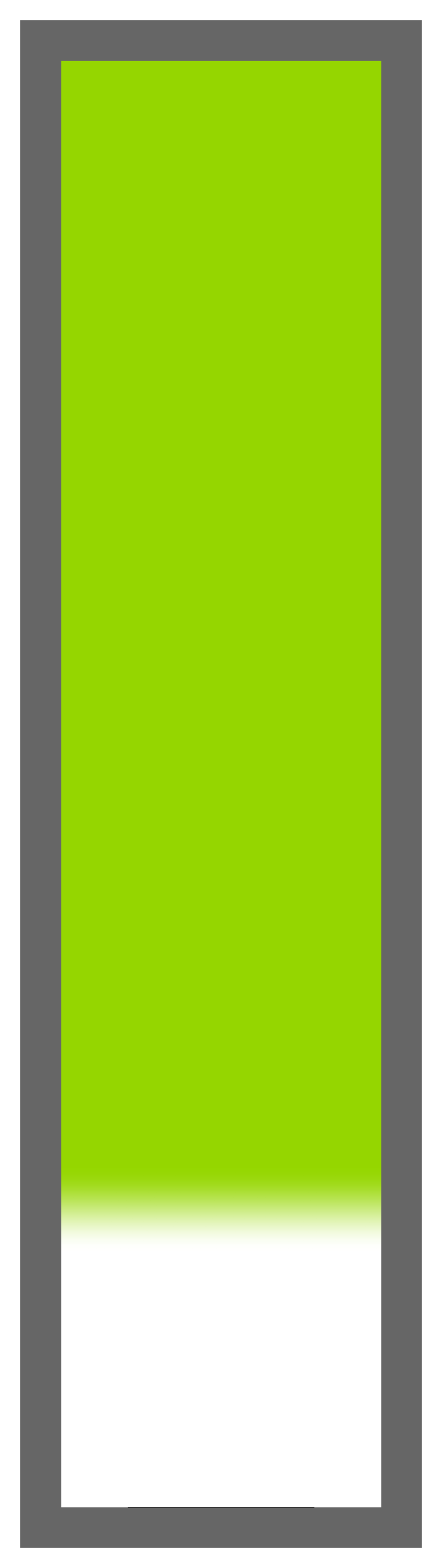 Lime Green Ombre-White Tail