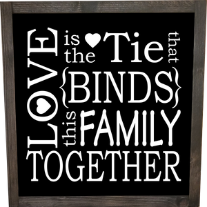 Love is the tie that binds this family together