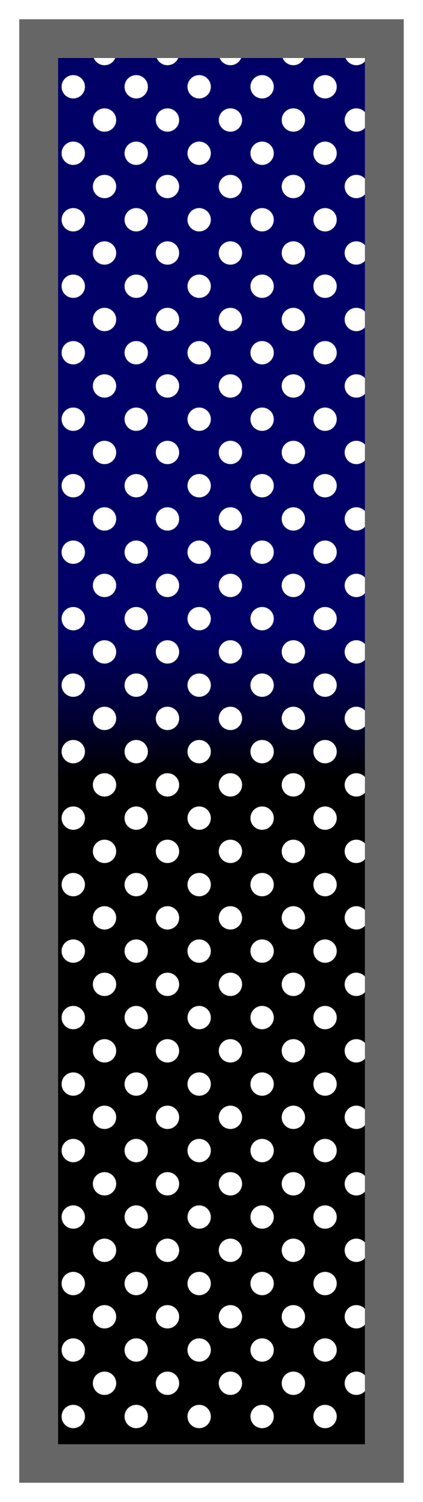 Navy-Black Ombre Polka Dots