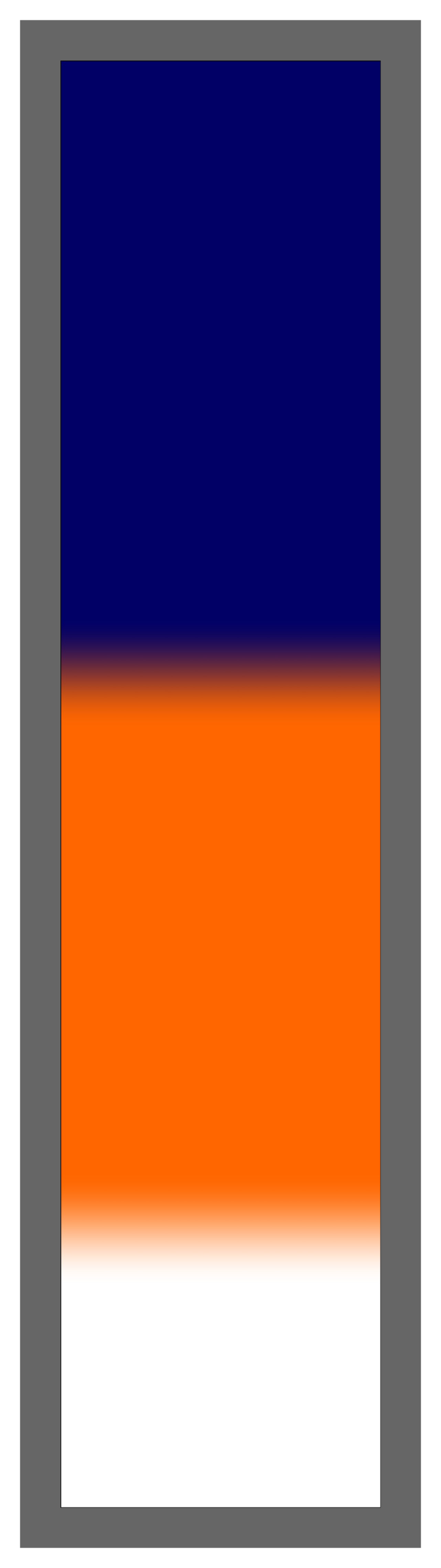 Navy-Orange-White Ombre
