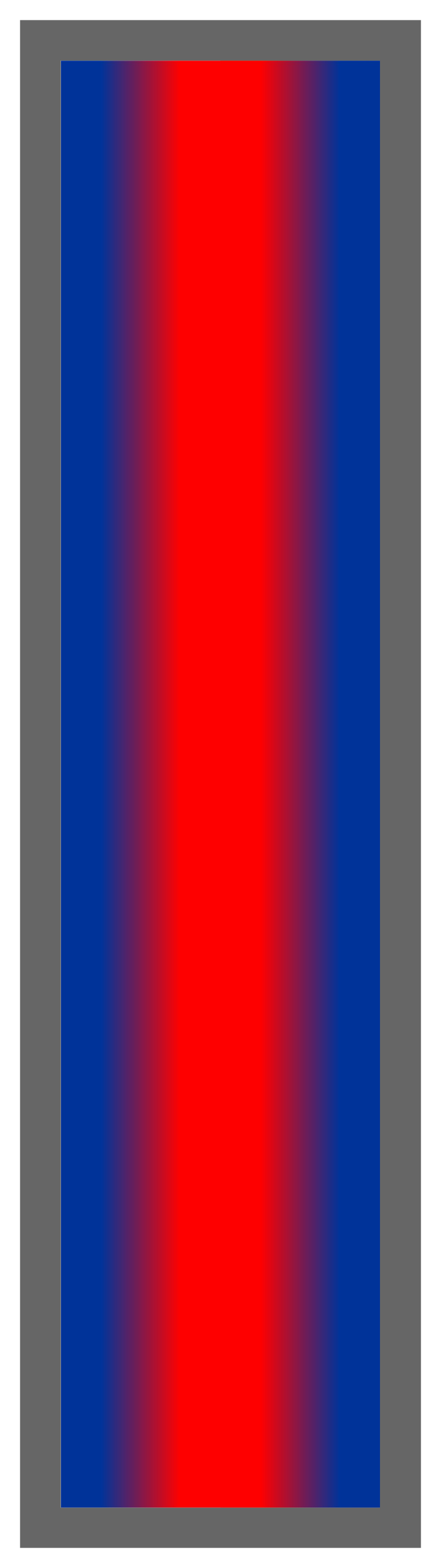 Navy-Red-Navy Ombre Stripe