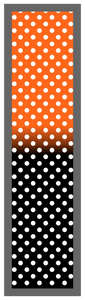 Orange-Black Ombre Polka Dots