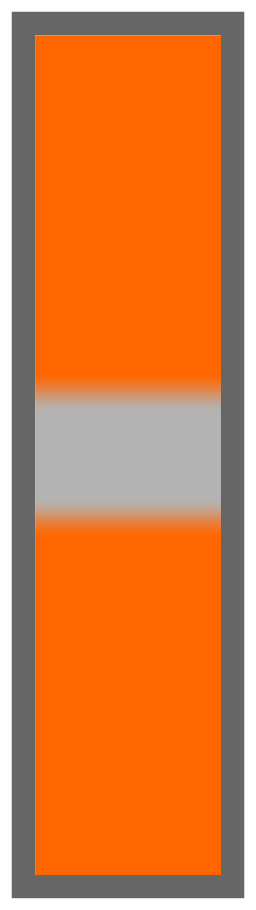 Orange-Silver Center Tailless