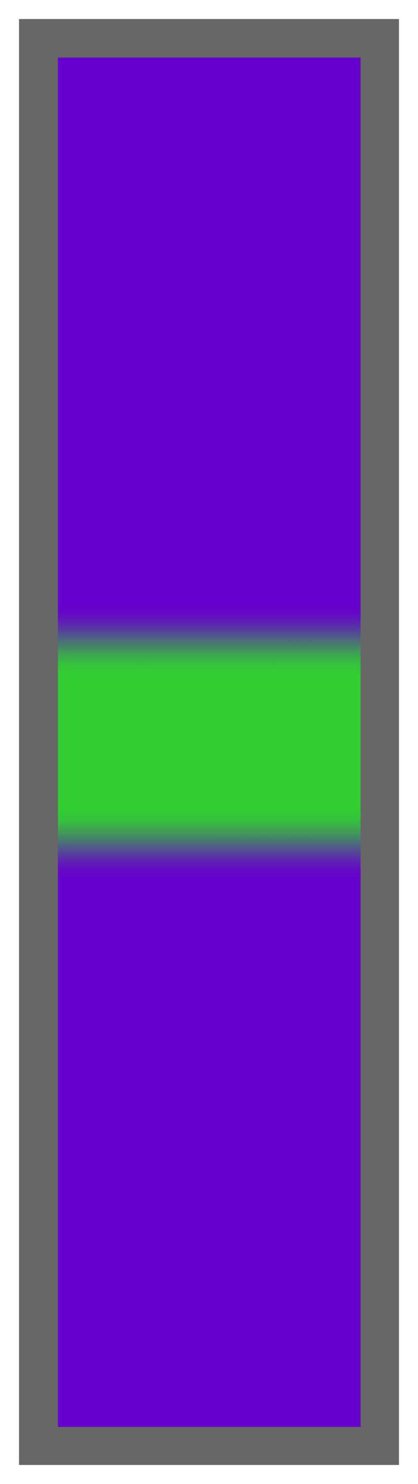 Purple-Lime Green Center Tailless