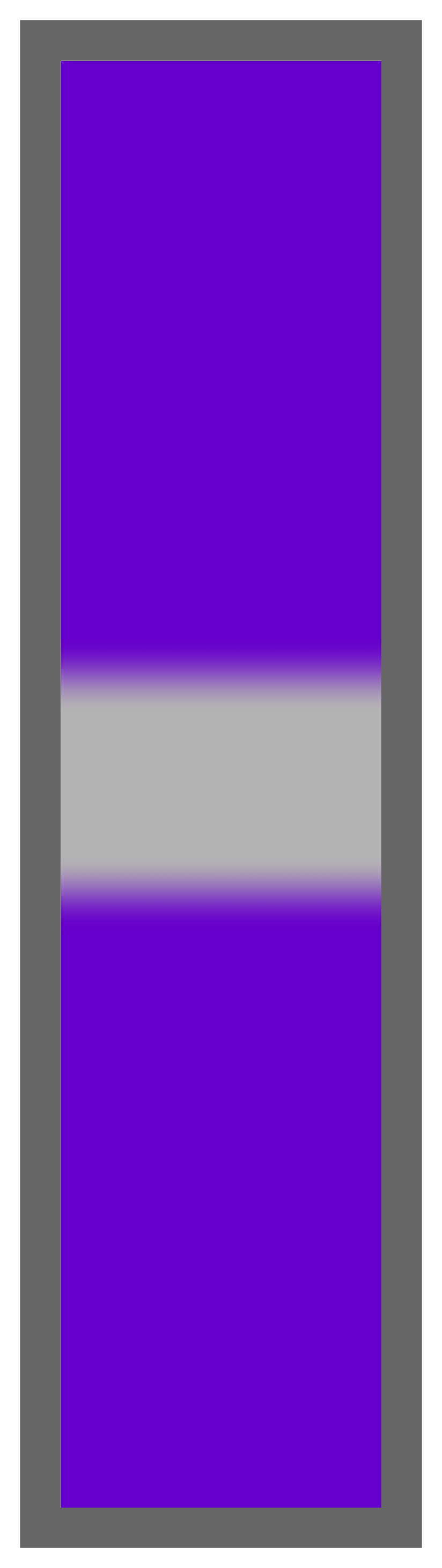 Purple-Silver Center Tailless