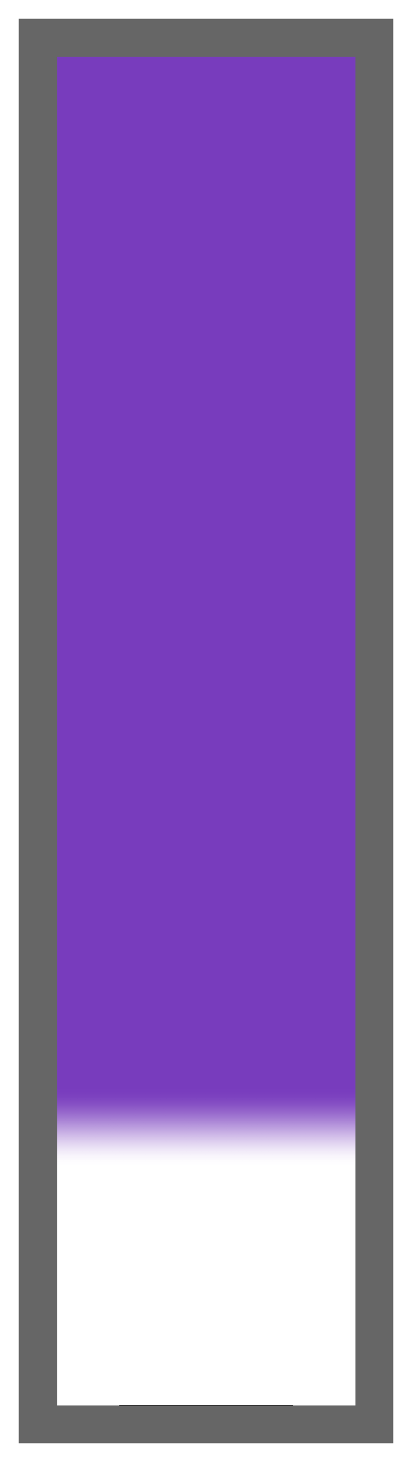 Purple Ombre-White Tail
