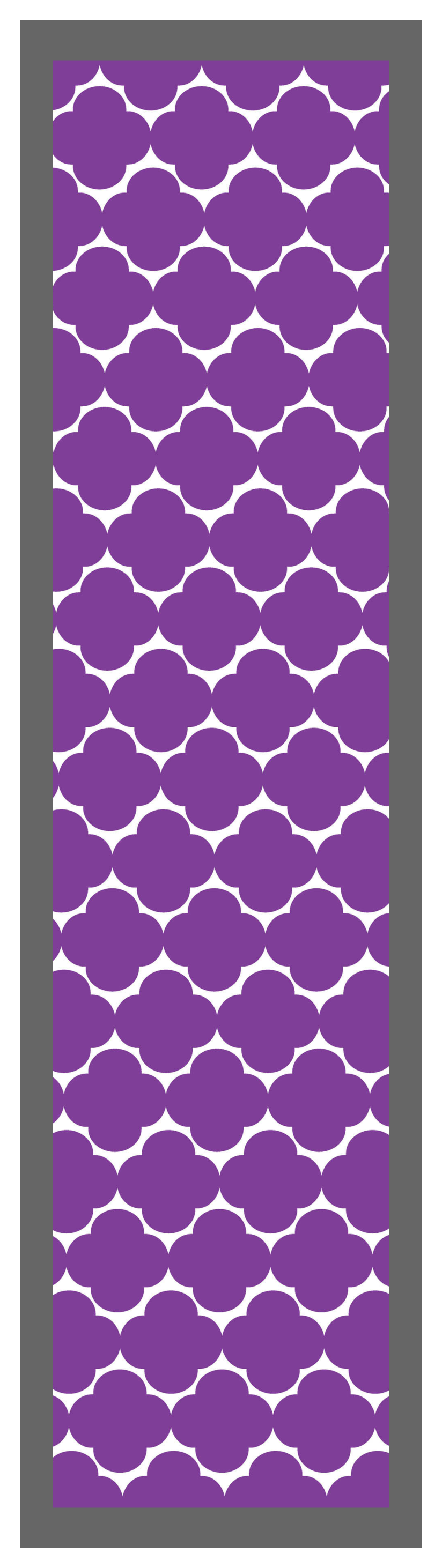 Quatrefoil-Purple