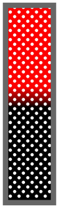 Red-Black Ombre Polka Dots