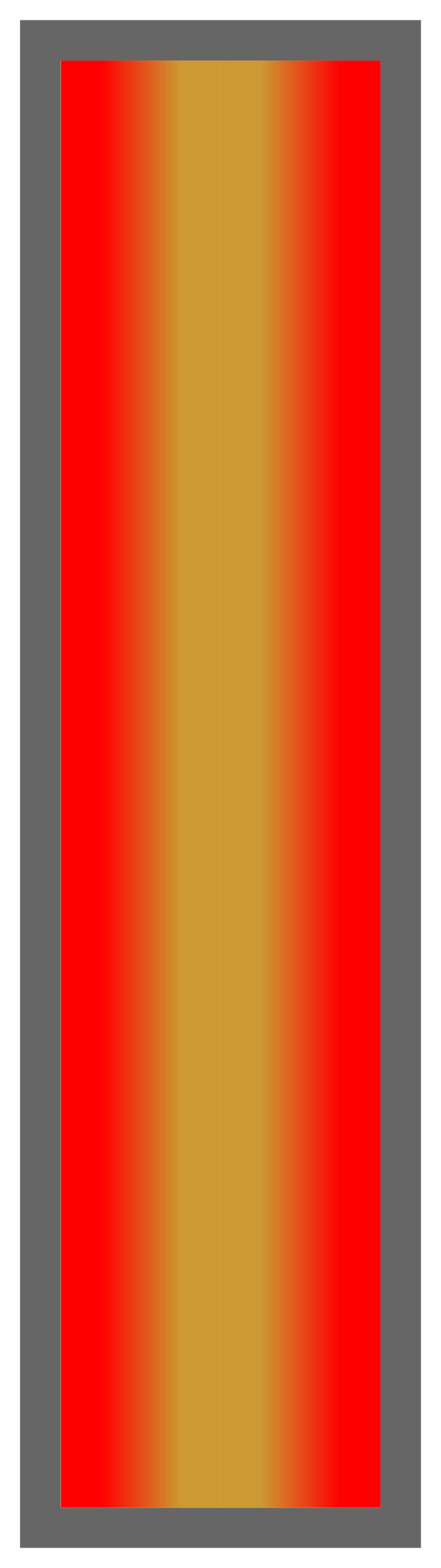 Red-Gold-Red Ombre Stripe