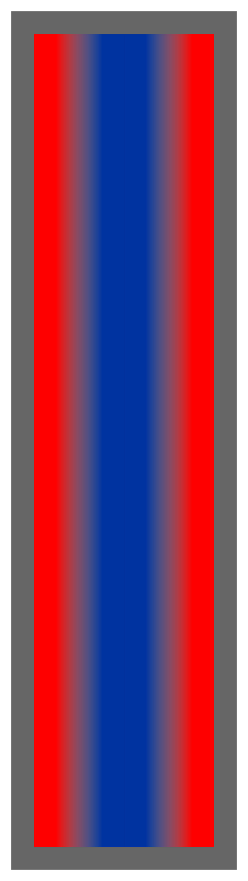 Red-Royal Blue-Red Ombre Stripe