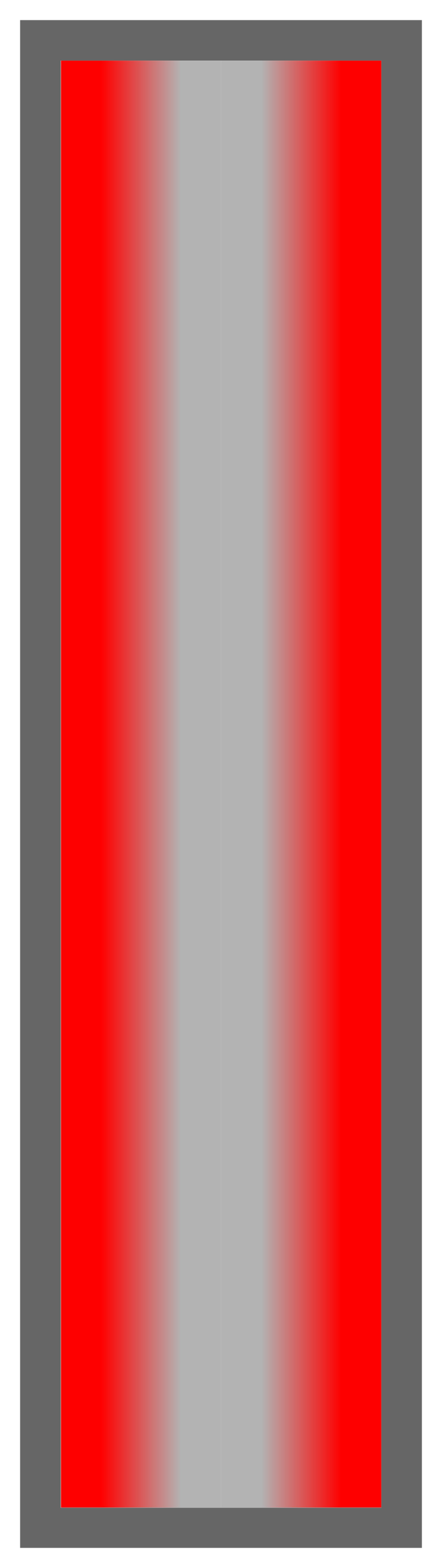 Red-Silver-Red Ombre Stripe