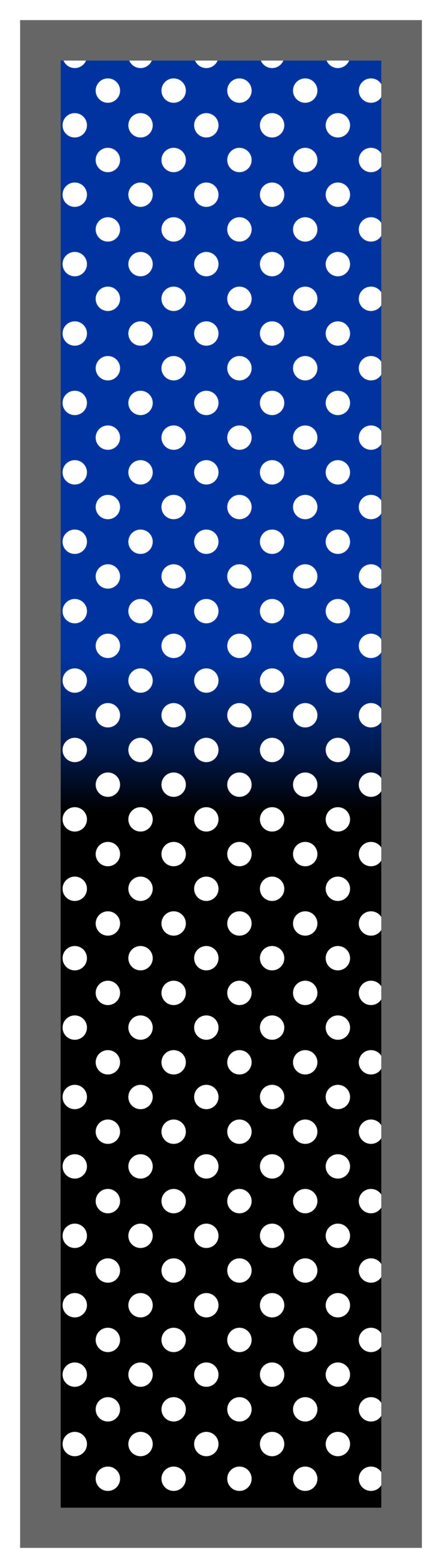 Royal Blue-Black Ombre Polka Dots