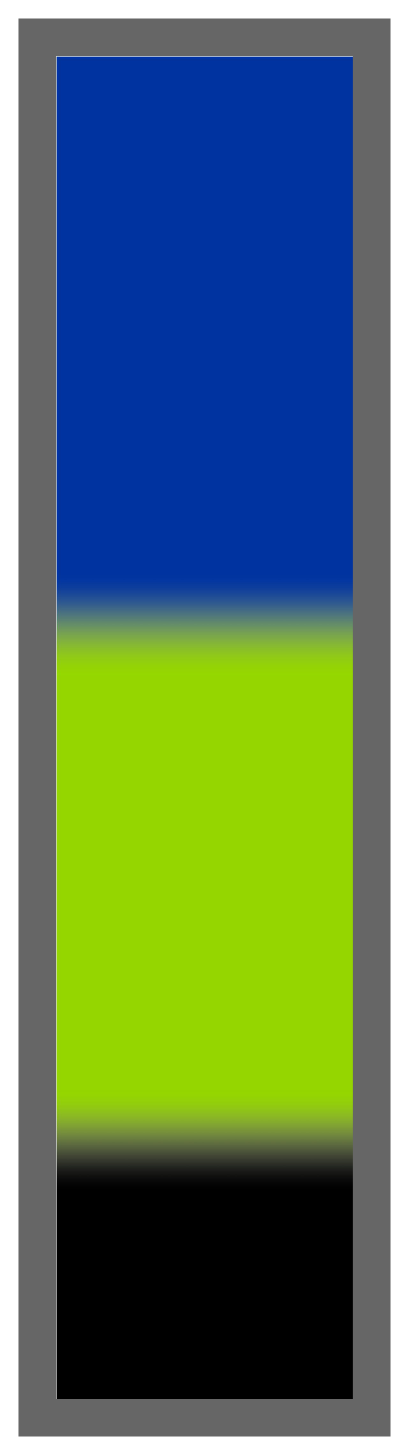 Royal Blue-Lime Green-Black Ombre