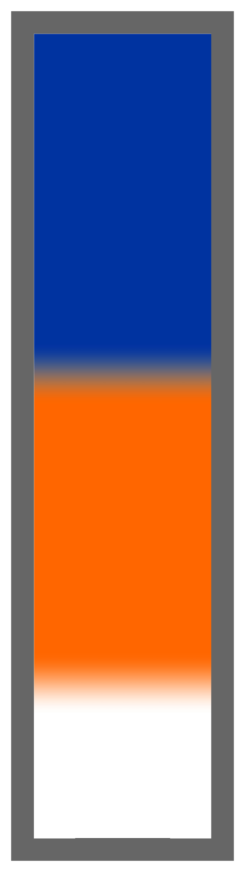 Royal Blue-Orange-White Ombre