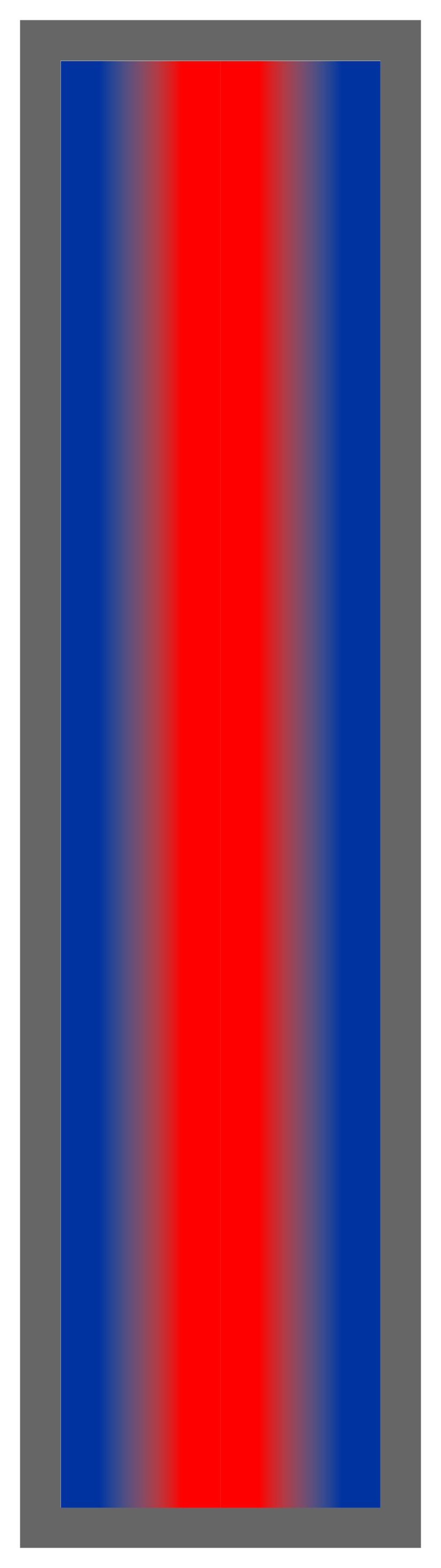 Royal Blue-Red-Royal Blue Ombre Stripe