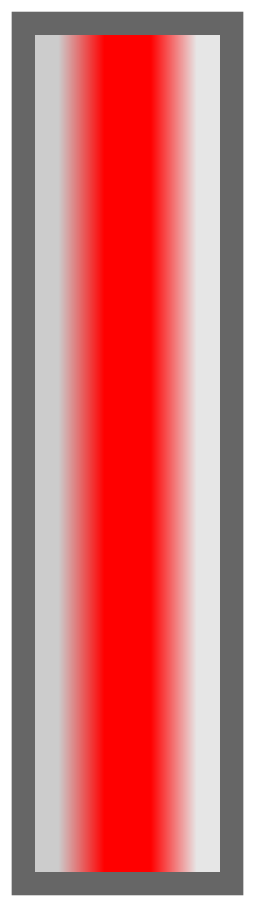 Silver-Red-Silver Ombre Stripe