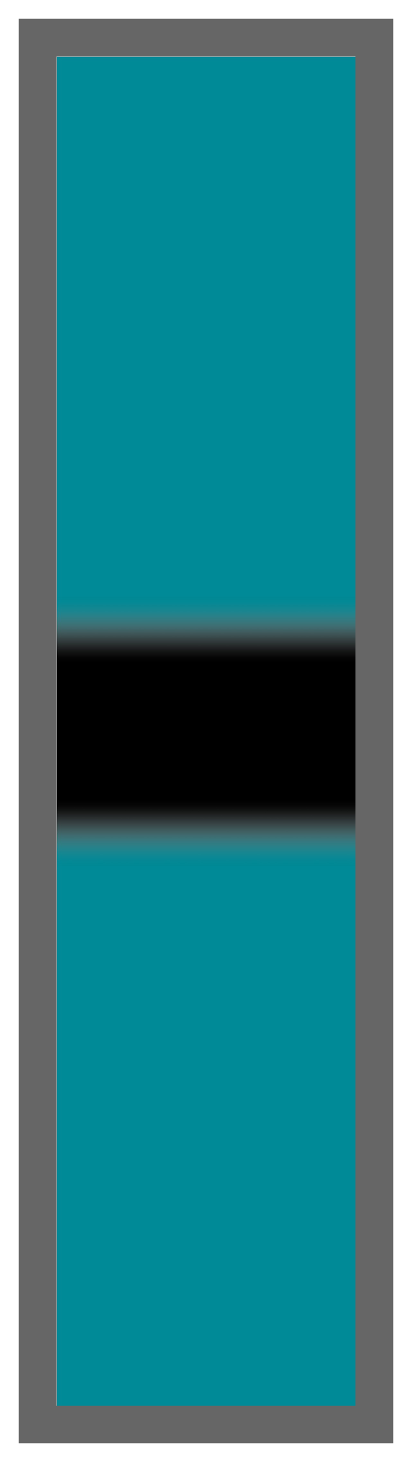Teal-Black Center Tailless