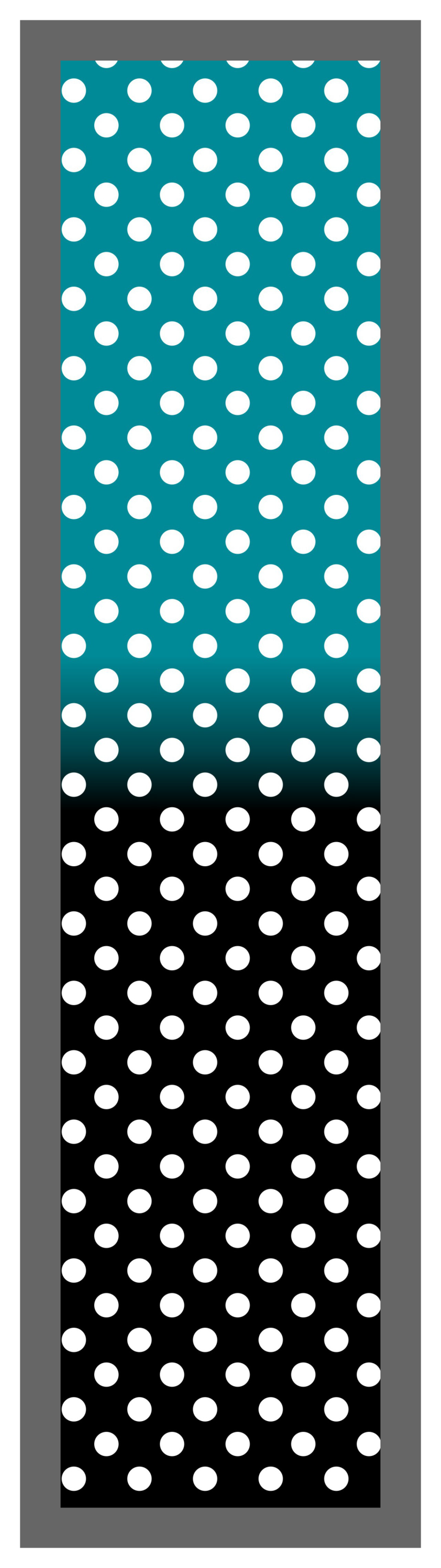 Teal-Black Ombre Polka Dots