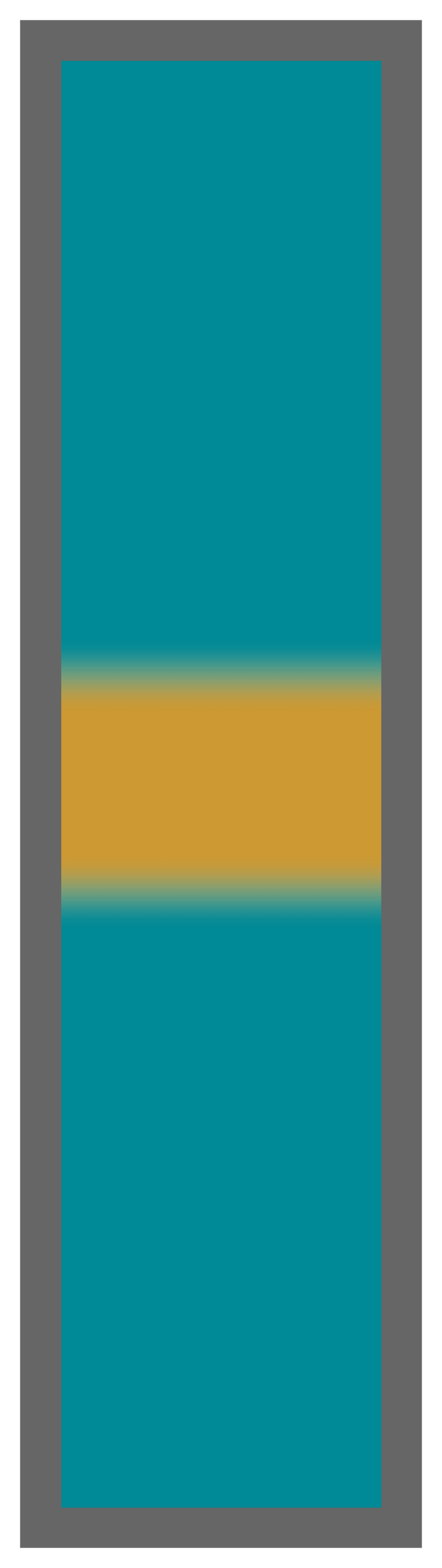 Teal-Gold Center Tailless