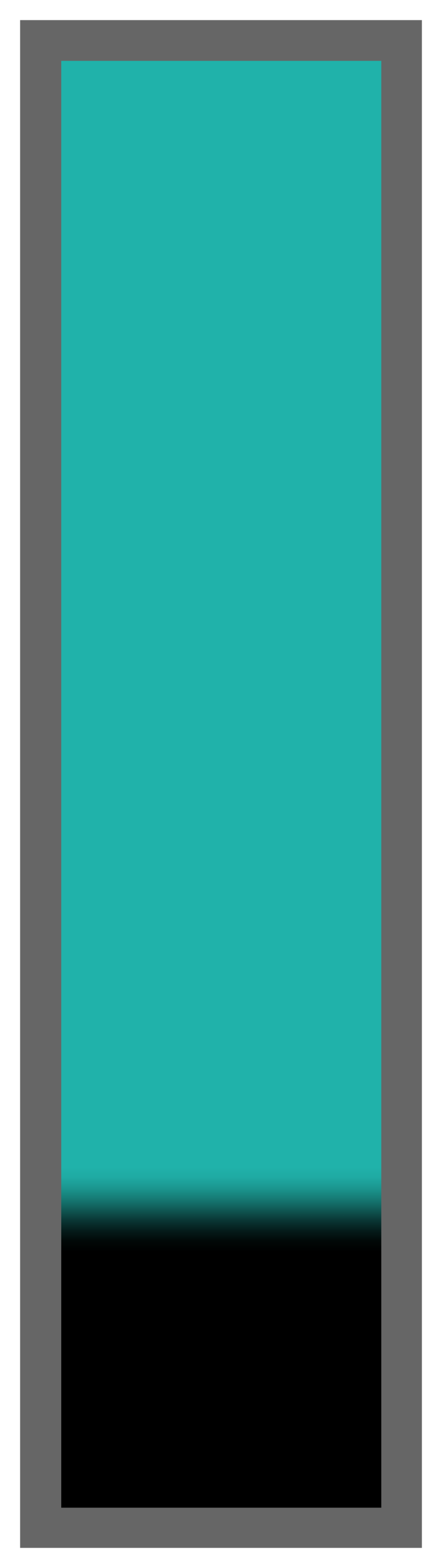 Teal Ombre-Black Tail