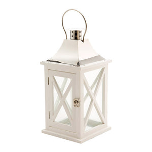 Wood Lantern-White Roof