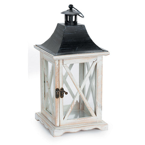 Wooden Lantern - Black Roof