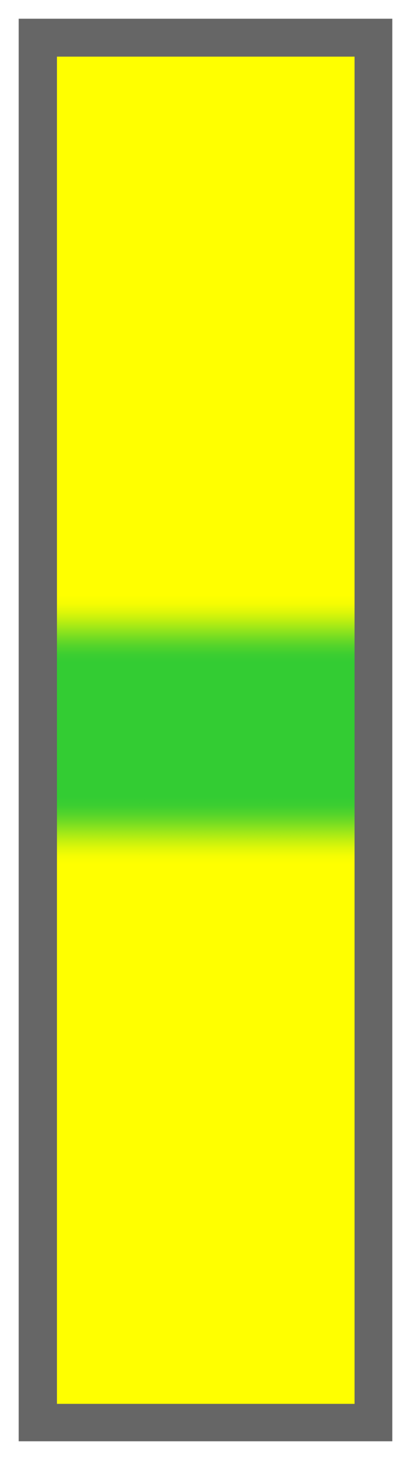 Yellow-Lime Green Center Tailless