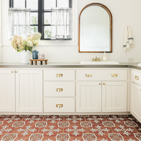 Palma Tile Stickers Brighten Up A Bland Bathroom