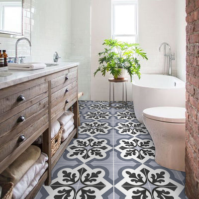 Hate your white tiled floor? You need to do this.
