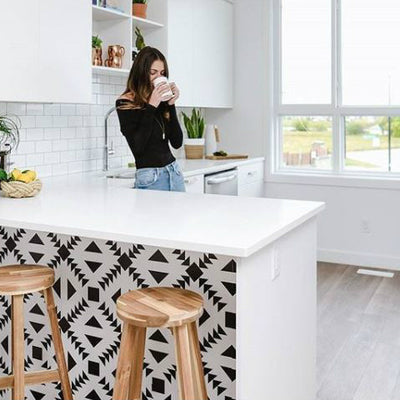 Kid-friendly kitchen island makeover