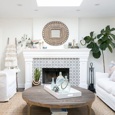 Boost your Fireplace Surround - Real cement tiles VS creative DIY ideas - get the same look for less