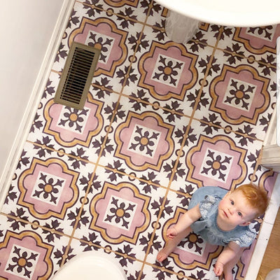 Powder Room tiles get a Face-Lift