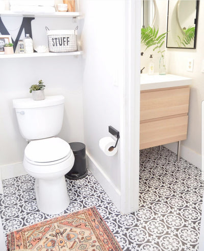 Small bathroom gets Big style