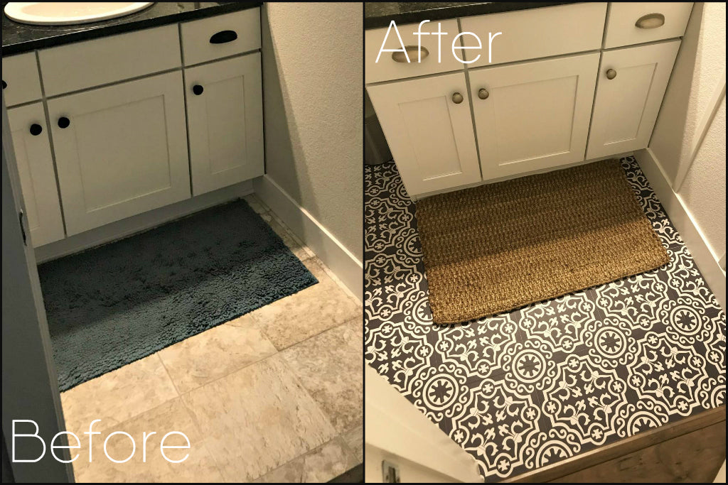 Update your old Linoleum floor with Quadrostyle Floor Stickers