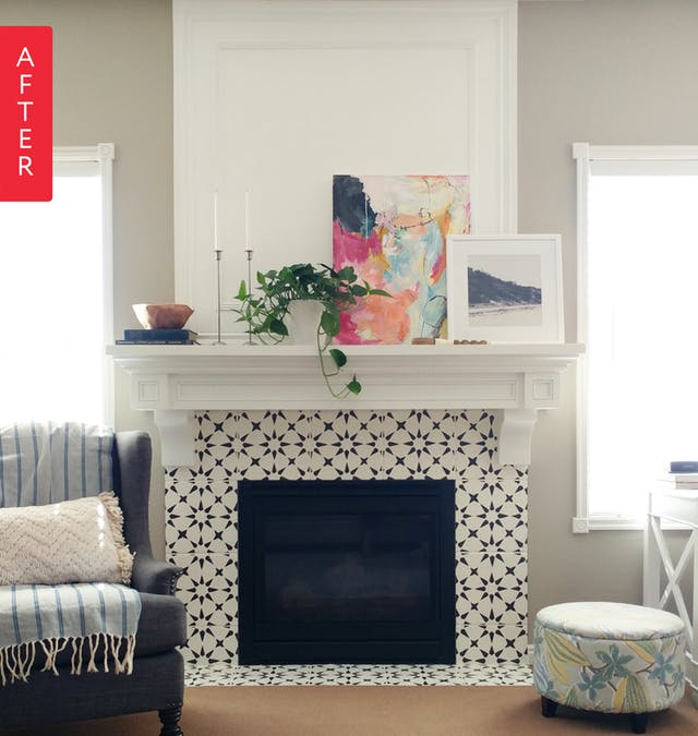 Boost Your Fireplace Surround Real Cement Tiles Vs