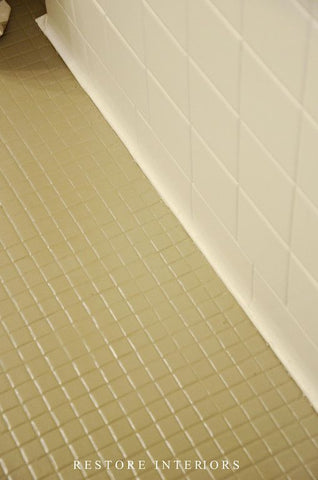 How To Cover Ugly Mosaic Tile Floors: The Easy & RENTER-FRIENDLY Way! – Quadrostyle